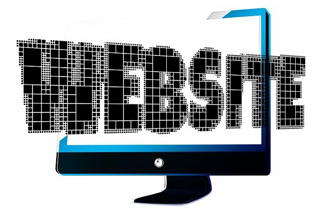 monitor, nápis webside
