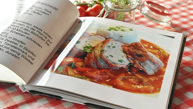 Kniha, recepty, kuchařka.